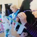 Participants in the Bandrum Pilot project taking part in a creative activity