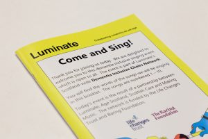 Song words booklet from the Stornoway Come and Sing event, September 2019