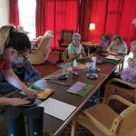 An art session at Ancaster House delivered remotely with Tracy Gorman