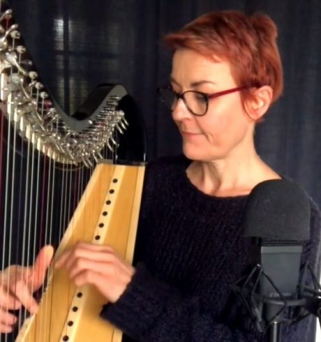 Corrina Hewat playing the harp, The Bressay Lullaby, Luminate@Home