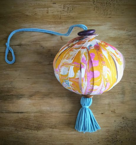 A paper ornament by Tracy Gorman, Luminate@Home