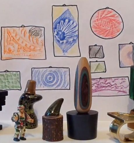 Miniature artworks and sculptures created by James Winnett, Mini Museums, Luminate@Home
