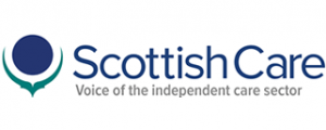 """Scottish Care logo – """"Voice of the independent care sector"""""""